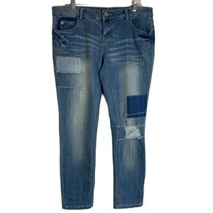 3/$15 Almost Famous Patchwork Distressed Jeans